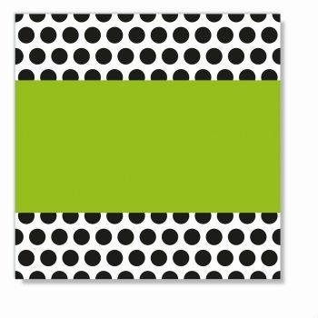 Servetten met groene stip