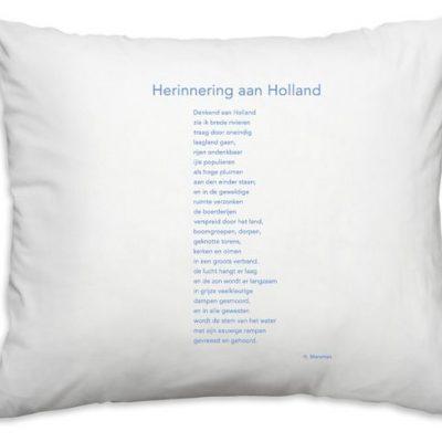 "Kussensloop ""Herinnering aan Holland"""